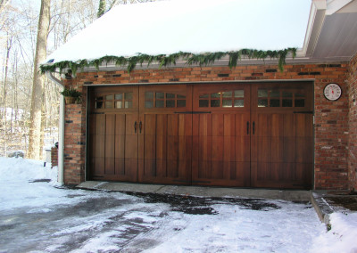Stained Garage Doors